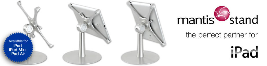 Mantis Stand - the perfect partner for iPad 2 & iPad 3.